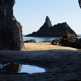 View of Church rock by Brian Miller - Landscapes Caves & Formations ( sea, seascape, beach, cave, rocks )