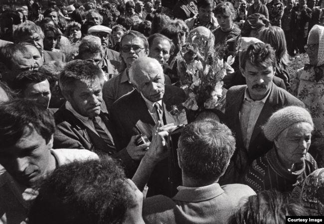Андрей Сахаров на митинге в Челябинске