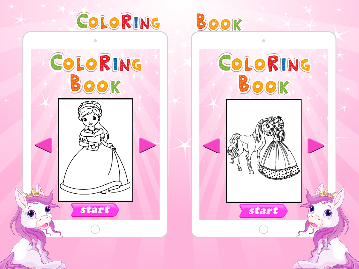 Pony Princess Coloring Pages - Android Apps on Google Play