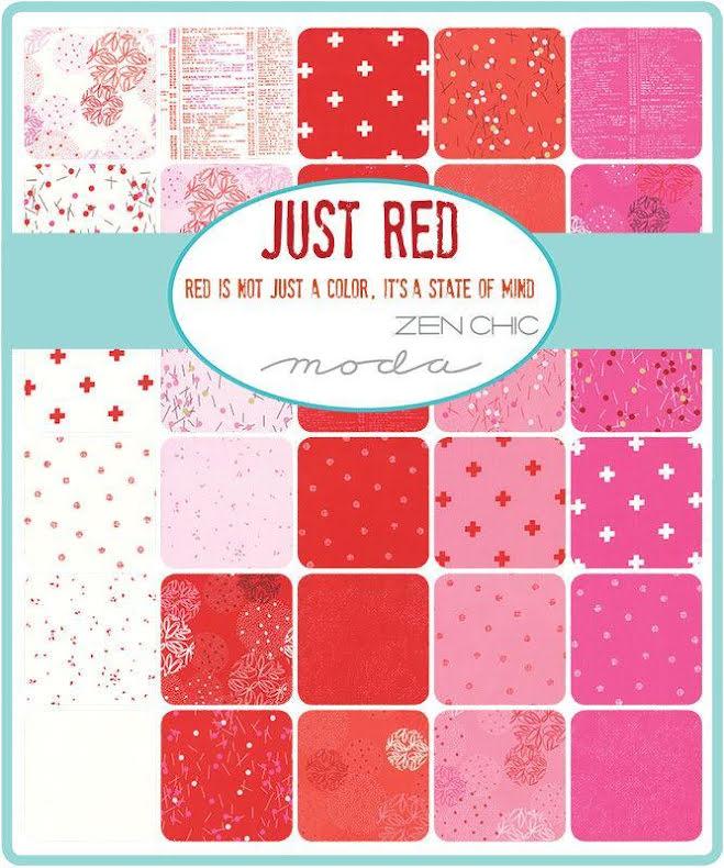Charm Pack Just Red by Brigitte Heitland Zen chic (16290)