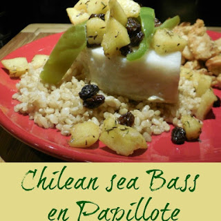 Chilean Sea Bass en Papillote with Bourboned Apples