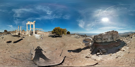 Photo: (2 of 3) Top of the Acropolis at Pergamon. Check out the Temple of Athena up close