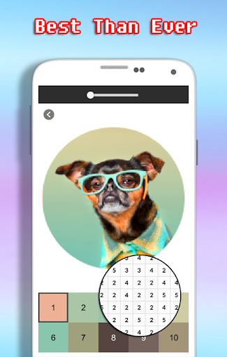 Dog Photography Coloring Book - Color By Number android2mod screenshots 2