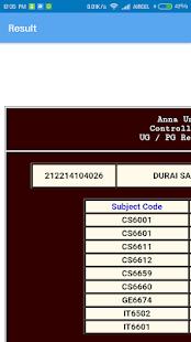 Anna University Results - náhled