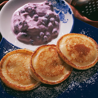 Pancakes mit Fruchtquark