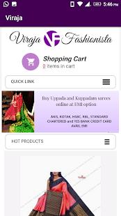 Viraja Fashionista - Uppada and Kuppadam Sarees - náhled