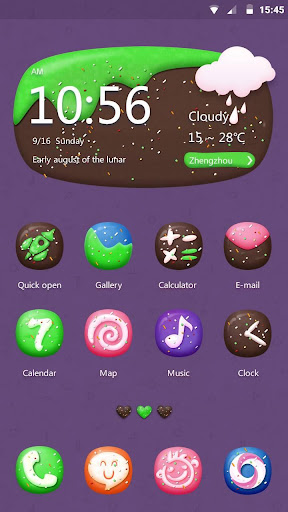 Sweet Dishes Hola Theme screenshot 2