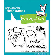 Lawn Fawn Clear Stamps 3X2 - Make Lemonade
