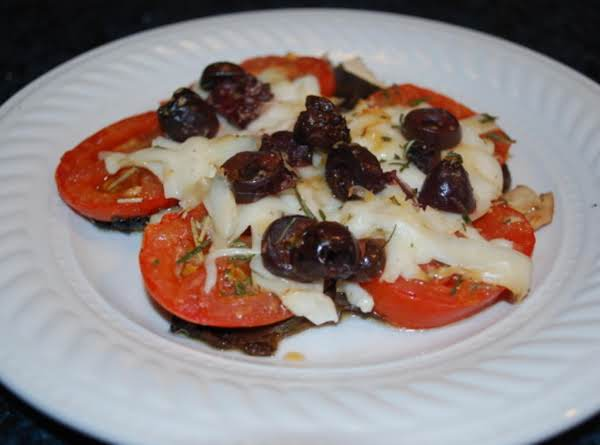 Tomato-&-olive-stuffed Portobello Caps Recipe