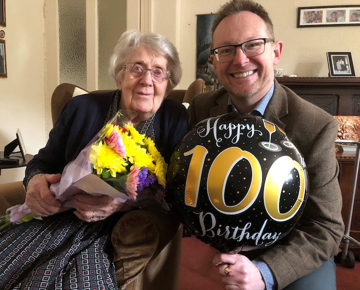 Happy 100th birthday Gwyneira