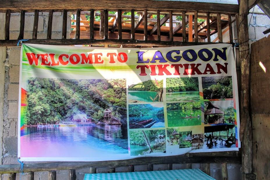 the sign welcoming us to Tiktikan lake