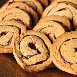 Chocolate Peanut Butter Pinwheel Cookies