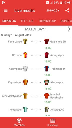 Live Scores for Super Lig 2019/2020 2.6.9 screenshots 1