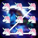 Pony Unicorn Pattern Lock Screen icon