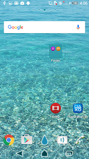 Theme - Turquoise Sea Screenshot