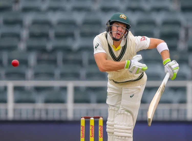 Tim Paine of Australia during day 3 of the 4th Sunfoil Test match between South Africa and Australia at Bidvest Wanderers Stadium on April 01, 2018 in Johannesburg, South Africa.