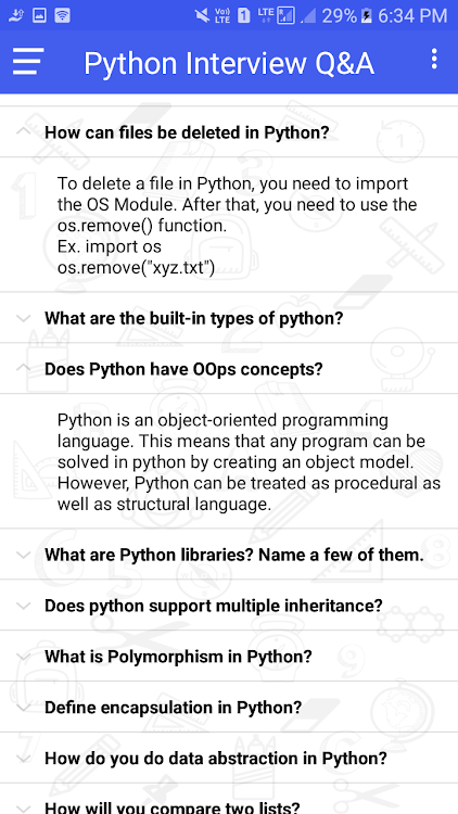 Python Interview Questions Answer (Offline) – (Android Apps