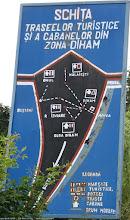 Photo: Gura Diham: schema posibil utila cu marcajele spre Poiana Izvoarelor, Diham, Omu, Malaiesti