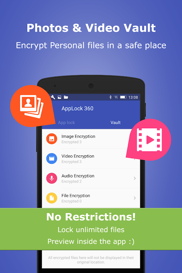 App Lock, Photo, Video, Audio, Document File Vault- screenshot