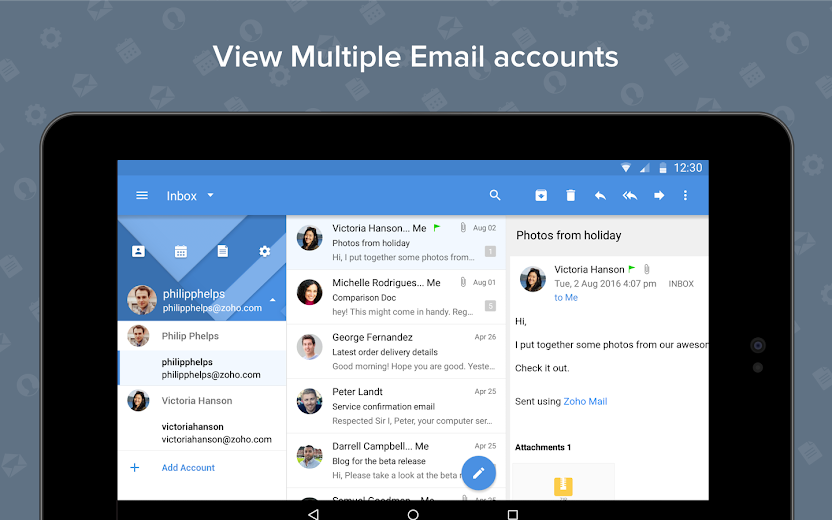 Screenshot 13 for Zoho Mail's Android app'