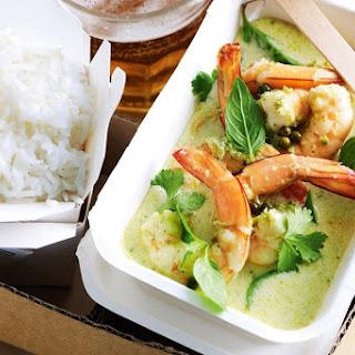 Thai Prawn Green Curry.