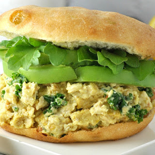 Curried 'Chicken' Salad Sandwich [Vegan]