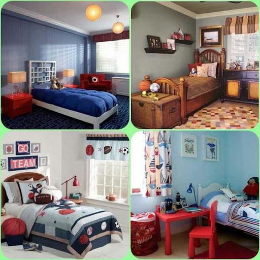 少年の寝室の装飾