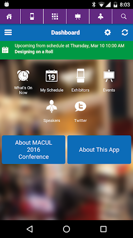 android MACUL 2016 Conference Screenshot 1