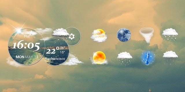 Moto Blur style Atrix Clock screenshot 02