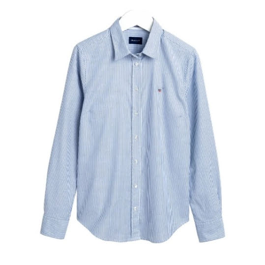 Gant Stretch Oxford Banker Shirt Nautical Blue. Strl 34