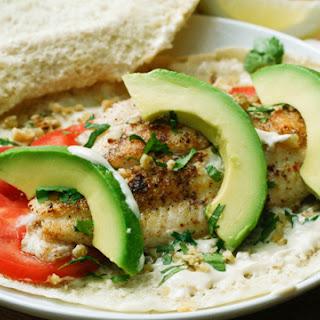 Fish Shawarma Sandwich.