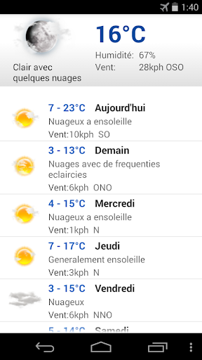 Meteo Paris screenshot 2