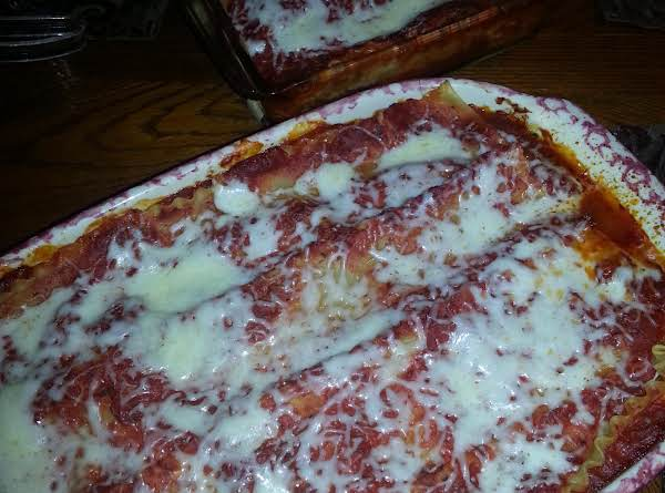 Delicious Lasagna With Meat I Made Tonight. Behind Is The Vegetarian Lasagna For My Daughter.