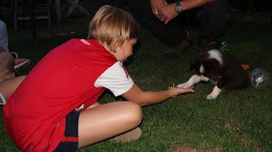 Photo: 28.08.2012  Lila   geeft  Gitte  een pootje