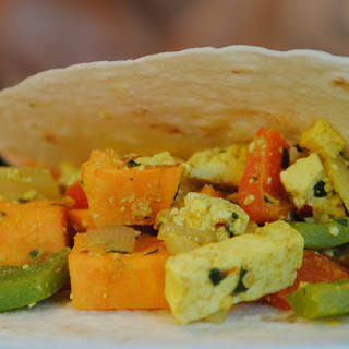 Sweet Potato Tofu Scramble.