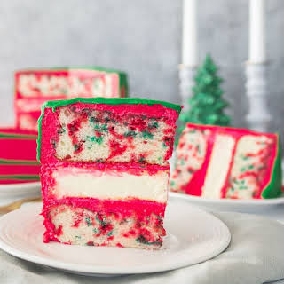 Christmas Funfetti Cheesecake Layer Cake.