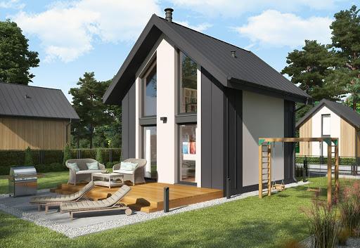 projekt Lido C dom mieszkalny, całoroczny z antresolą