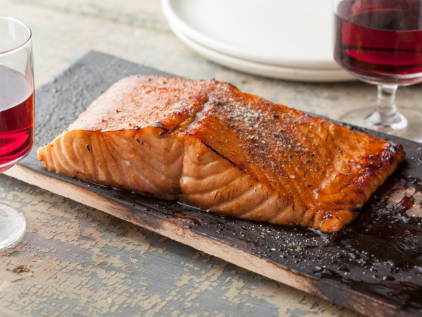 Planked Salmon with Honey-Balsamic Glaze Recipe