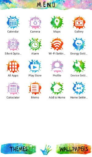 Holi Theme Colorful Hand 1.0.0 Windows u7528 2