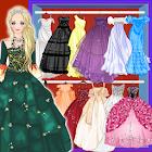 Poupée princesse robe de bal icon