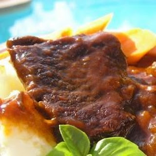 Barbeque Style Braised Short Ribs.