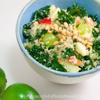 Quinoa Kale Salad with Honey Lime Vinaigrette Recipe