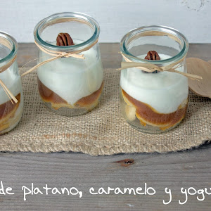 Banana Caramel Yogurt Cups