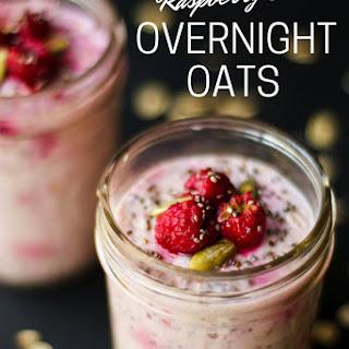 Raspberry Chia Overnight Oats.