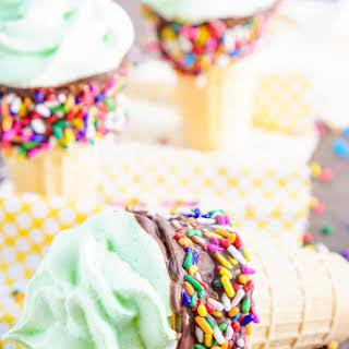 Meringue Ice Cream Cones.