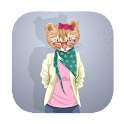 funny talking  dancing cat icon