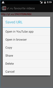 yt.vu YouTube url shortener- screenshot thumbnail