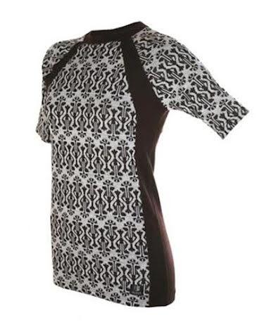 Tshirt, Ullsilke, mönstrad REA