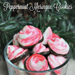 'Tis the Season with Peppermint Meringue Cookies.