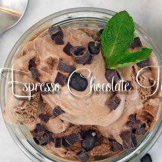 Vegan Espresso Chocolate Ice Cream.